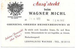 4170j: AK Grinzing Wagner Michl 1972 - Grinzing