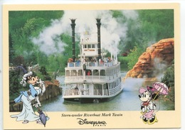 Disneyland Paris - Stern Weeler Riverboat Mark Twain - Cp Vierge - Disneyland