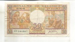 Billet Royaume De Belgique, 50 Francs, 1948 - [ 2] 1831-... : Koninkrijk België