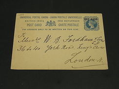 India 1896 Postal Card To UK *1359 - Inde (...-1947)