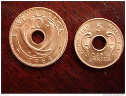 BRITISH EAST AFRICA 1964 UNCIRCULATED COINS FIVE & TEN CENTS PAIR. - Colonie Britannique