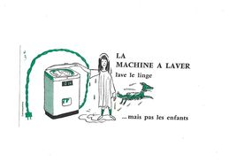 Buvard La Machine à Laver - Electricité & Gaz
