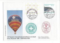 17055 - 18e Semaine De Ballons à Air Chaud 20 Au 28 Janvier 1996 Château D'Oex - Suisse