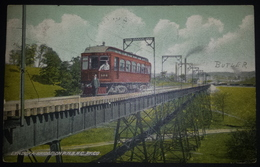 Z04 - USA - Butler Pennsylvania - Lyndora Bridge With Train - Used 1909 From Butler To Brussels Belgium - Eisenbahnen