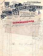 59 - SAINTE OLLE LEZ CAMBRAI- BELLE FACTURE CARDON DUVERGER-CHICOREE A LA BOULANGERE- AU CROISSANT- 1900 - Alimentaire