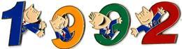JO BARCELONE 1992 - JB4 - 4 Pin's COBI Avec Chiffres 1992 - Verso : C 1988 / COOB 92 / COJO 1992 - Jeux Olympiques
