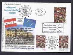 8.10.1983 HUNDERTWASSER AUTRICHE AUSTRIA WIEN EUROPARATSGIPFEL CONSEIL EUROPE JOINT ISSUE TIRAGE LIMITE 250ex - Emissions Communes