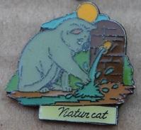 NATUR CAT - CHAT GRIS - FONTAINE  -               (18) - Animals