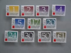 1988  Irlande Yvert Taxe 35/45  **  Postage Due Scott J 37/47 Michel 35/45  SG Xx - Timbres-taxe