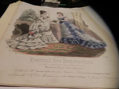 6 GRAVURES PAPIER DE 1879/1880 DU  JOURNAL DES DEMOISELLES - Lithographien