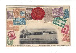 DEVONPORT AUCKLAND N. Z.  ( Carte Gaufrée - Timbres Poste ) - Nouvelle-Zélande
