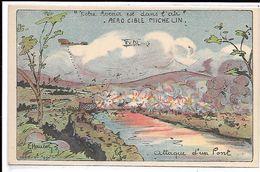 AERO-CIBLE MICHELIN - Notre Avenir Est Dans L'air - Attaque D'un Pont - Werbepostkarten