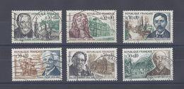 FRANCE. YT  1470/1475 Obl  Comédiens Français  1966 - Oblitérés