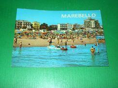Cartolina Marebello Di Rimini - Alberghi E Spiaggia Visti Dal Mare 1969 - Rimini