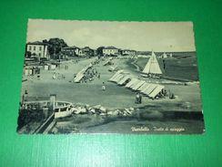 Cartolina Viserbella - Tratto Di Spiaggia 1955 - Rimini