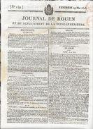 JOURNAL DE ROUEN DU  29 MAI 1818  .COMPLET 4 PAGES - Giornali