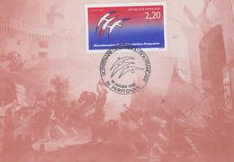 Carte  1er  Jour  Bicentenaire  De  La   REVOLUTION      PERPIGNAN  1er  Janvier   1989 - Révolution Française