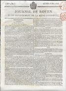 JOURNAL DE ROUEN DU  18 MAI 1818  .COMPLET 4 PAGES - Giornali