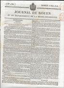 JOURNAL DE ROUEN DU  16 MAI 1818  .COMPLET 4 PAGES - Giornali
