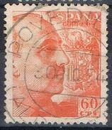 Sello 60 Cts Caudillo, Fechador POVEDILLA (Albacete), Edifil Num 1054 º - 1931-Today: 2nd Rep - ... Juan Carlos I