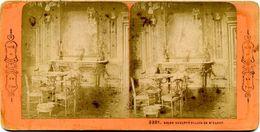 Photos  Stéréoscopiques - Palais  De Saint Cloud - Salon  Sculpté N° 3381 - Fotos Estereoscópicas