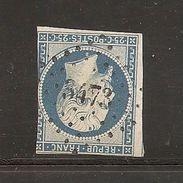 N°10, 25 Cts Bleu, PC 3473, Valensolle, Basses Alpes - 1849-1876: Période Classique