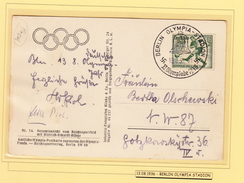 """Beautiful Letter Berlin With Cancel """"Olympia Stadion"""". Football / Soccer / Olympics. - Calcio"""