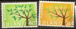 Iceland 1962 SG 395-6 Europa Fine Used - 1944-... Republik