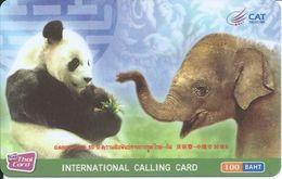 Panda éléphant Elephant Animal Télécarte  Phonecard  Karte (S.274) - Thaïlande