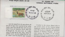 India  1983  Stamped Infirmation Brochure   Deer Kanha National Park  # 88692  Inde  Indien - Game