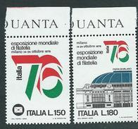 """Italia, Italy 1976; Bandiera Italiana, Italian Flag (green, White, Red) In """"76"""" . Serie Completa Di Bordo. - Francobolli"""