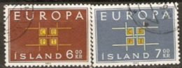 Iceland 1963 SG 404-5 Europa Fine Used - 1944-... Republik