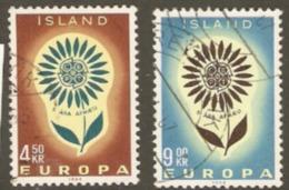 Iceland 1964 SG 416-7 Europa Fine Used - 1944-... Republik