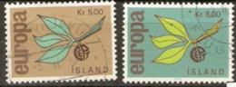 Iceland 1965 SG 426-7 Europa Fine Used - 1944-... Republik
