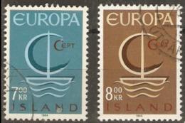 Iceland 1966 SG 436-7 Europa Fine Used - 1944-... Republik