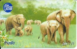 éléphant Elephant Animal Carte Prépayée Card  Karte (S.278) - Thaïlande