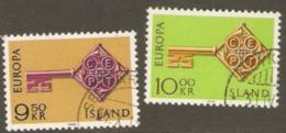 Iceland 1968 SG 448-9 Europa Fine Used - 1944-... Republik