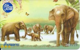éléphant Elephant Animal Carte Prépayée Card  Karte (S.279) - Thaïlande
