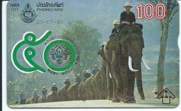 éléphant Elephant Animal Carte Prépayée Card  Karte (S.281) - Thaïlande