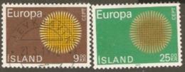 Iceland 1970 SG 473-4 Europa Fine Used - 1944-... Republik