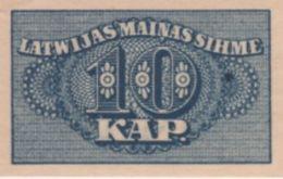 (B0057) LATVIA, 1920 (ND). 10 Kapeikas. P-10. UNC - Lettonie