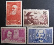 LOT BP/119 - 1939 - POUR LES CHÔMEURS INTELLECTUELS - N°436 à 439 NEUFS ** - Cote : 55,00 € - Frankreich