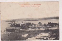AFRIQUE,AFRICA,colonie Française,COTE D´IVOIRE En 1900,BINGERVILLE,ABIDJAN, BORD DE LA LAGUNE EBRIE,CARTE ANCIENNE - Côte-d'Ivoire