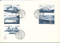Sweden FDC 16-11-1974 Complete Set Of 5 Ships - FDC