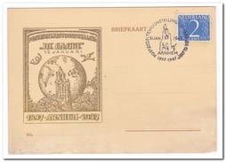 """Briefkaart 1947, Postzegeltentoonstelling """"De Globe"""" Arnhem - Periode 1891-1948 (Wilhelmina)"""