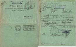 PIEGO POSTA MILITARE M SEZ A CONCEN MESSINA 1941 PALERMO - 1900-44 Vittorio Emanuele III