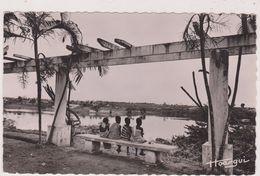 Afrique,africa,COTE D´IVOIRE,FRANCE COLONIE,ABIDJAN,banc Public,CARTE PHOTO POCIELO ET HOAQUI - Côte-d'Ivoire