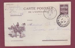 GUERRE 14/18 - 090717 - FM - Carte Postale De L'espérance EN RECONNAISSANCE - Trésor Et Postes 65 - 1917 - Marcofilie (Brieven)