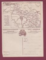 GUERRE 14/18 - 090717 - FM -  Correspondance Des Armées - Carte Double Du Front N° 8 LAON - Marcophilie (Lettres)