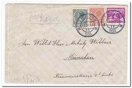Brief 1933 Naar München, Afstempeling Tilburg - Periode 1891-1948 (Wilhelmina)